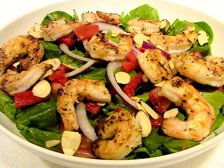 :: shrimp n spinach salad :: Healthy food