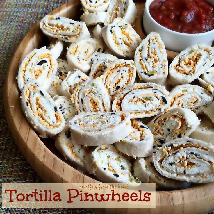 Tortilla Pinwheels   An Affair from the Heart