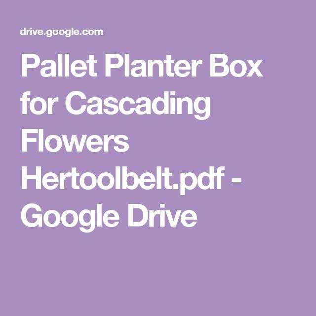 Pallet Planter Box For Cascading Flowers Hertoolbelt Pdf 400 x 300