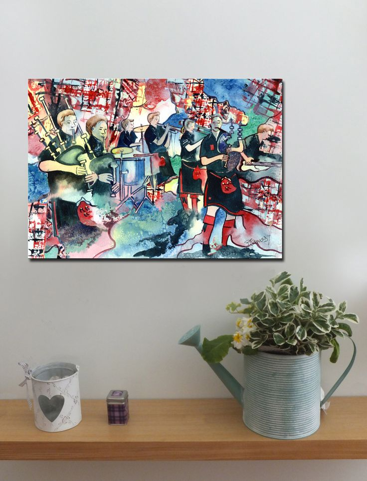 RED HOT CHILLI PIPERS http://www.splashyartystory.com/shop/art-prints/red-hot-chilli-pipers-art-print-from-painting/