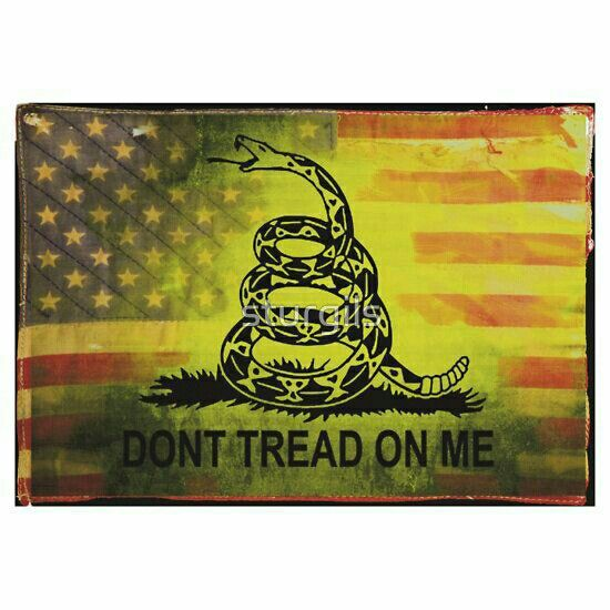 American & Gadsen flag merged together.