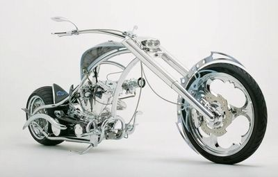 "The Orange County Choppers ""I Robot"" bike."
