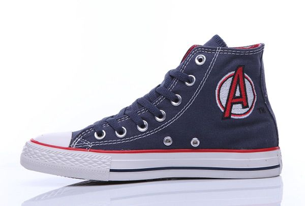 7d44a4e7e3d6 Converse Chuck Taylor Marvel Comics The Avengers Print Blue High  converse   shoes