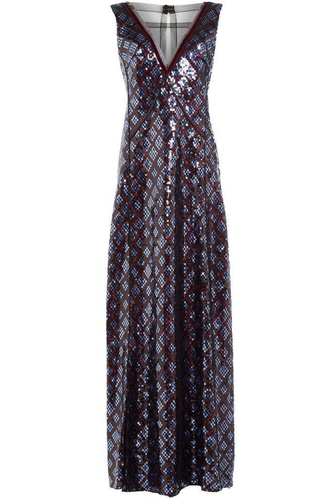 #Marc #Jacobs #Bodenlanges #Paillettenkleid #, #Blau für #Damen - Bereit für den…