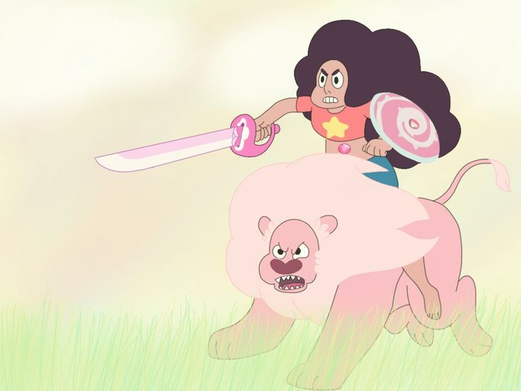 My drawing of Stevonnie and lion