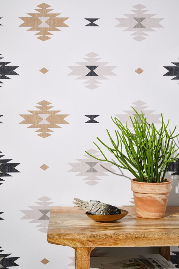 Mesa Geo Removable Wallpaper Urban Outfitters Canada Removable Wallpaper Stick On Wallpaper Southwestern Wallpaper