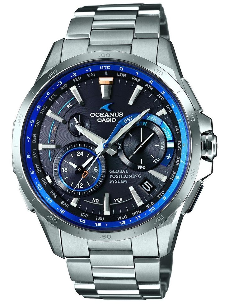 "Three New Casio Oceanus Models To Feature Hybrid Timekeeping System Merging GPS And Radio Signal Syncing - by David Bredan - on aBlogtoWatch.com ""Earlier this year, we brought you news of a fresh G-Shock release, which was Casio's – and in fact the world's – first wrist watch to incorporate a hybrid movement that would allow the watch to sync the exact time both through atomic clock radio signals and GPS satellites. Recently, Casio has announced three new models..."""