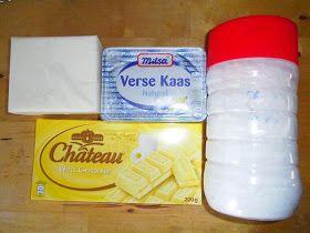 Heerlijke recepten van Jacqueline: Witte chocolade roomkaas boter-crème