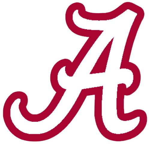logo university of alabama crimson tide white a red outline rh pinterest com university of alabama logo stencil