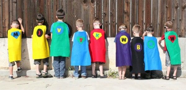 Want to learn an easy way to make your own superhero capes for kids? I'll show you!!! My boys love playing pretend. I love that they are still at the dress up stage. Having a super hero cape is a must in my opinion. This is simple way for you to make cape for you kids. I used Felt so