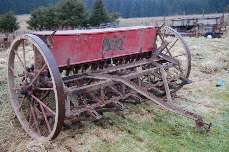 Pierce seed drill. We have several of these with the wooden box section made into benches for large tables.