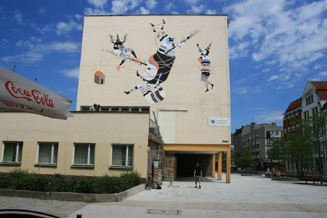 OUT OF STH #Wroclaw 2012 by Hell'o Monsters ul. Kuźnicza  #streetart