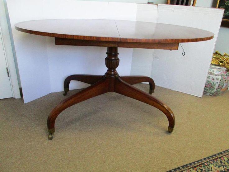 Vintage Mahogany Spider Leg Expandable Dining Room Table 1952 #custom