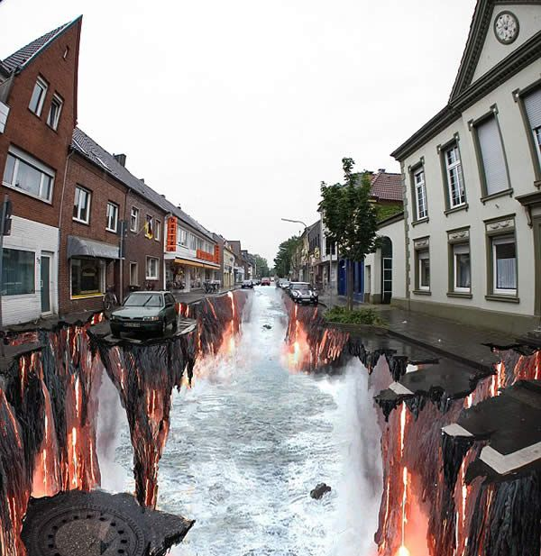 Another unbelievable chalk-art street painting.