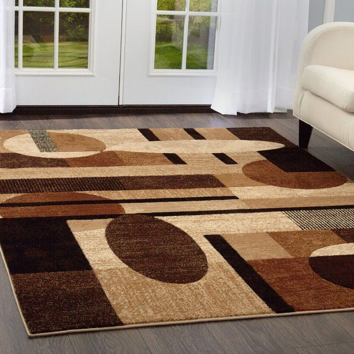 Nolan Patterned Brown Tan Area Rug Homedecoraccessories