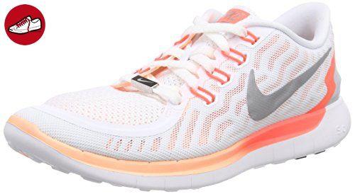 Nike Free 5.0, Damen Laufschuhe, Weiß (White/reflect silver-snst glow 100), 35.5 EU (*Partner-Link)