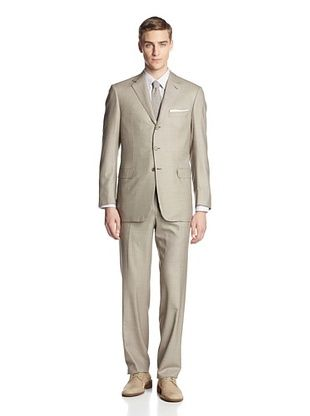 60% OFF Brioni Men's Two-Button Suit (Beige/Brown)