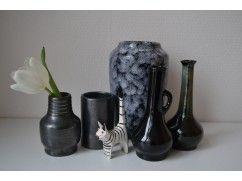 Vintage vazen in grijs/metaal kleur.