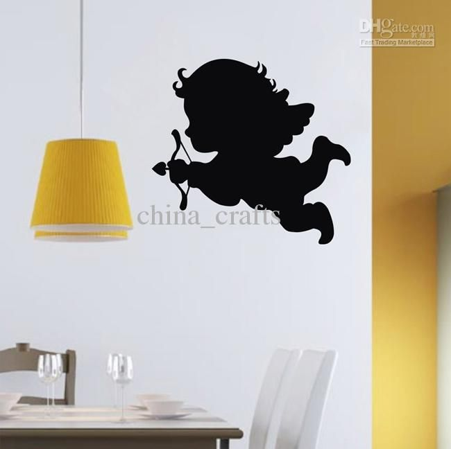 Cupid Angels Vinyl Wall Stickers 45x50cm Wall Art Stickers Living Room PVC Wall  Decals Baby Room Wall Decor
