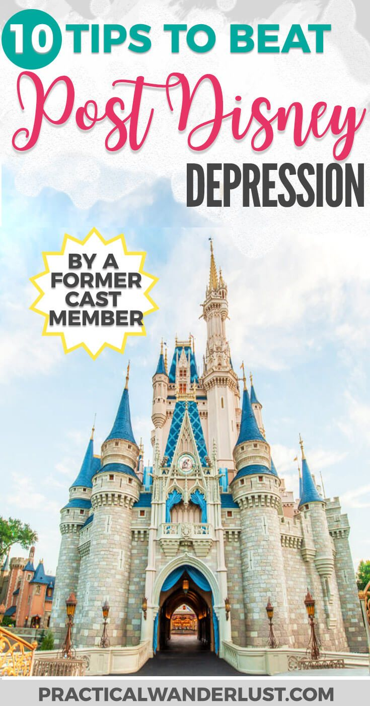You know that feeling after you return home from an amazing Disney vacation and you feel like nothing will ever be fun again? That's Post Disney Depression. It's totally a thing, and here's how to get through it, one booze-soaked Disney movie binge-fest at a time! Disney World Travel | Disneyland Tips | Disney Parks Travel | Disney World Tips | Disney Cast Member Tips #Disney