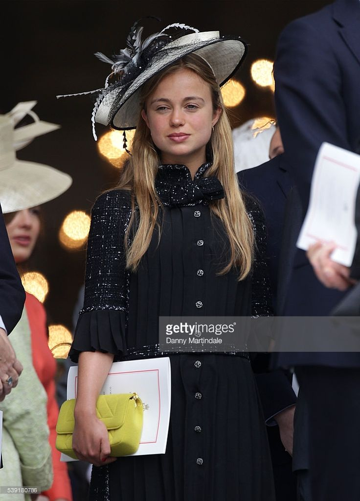 Amelia Windsor Attends A National Service Of Thanksgiving As Part The 90th Birthday Celebrations For