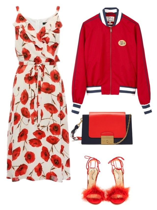 Happy in red ;) by moon-helena on Polyvore featuring polyvore, moda, style, Tommy Hilfiger, Charlotte Olympia, Mulberry, fashion and clothing