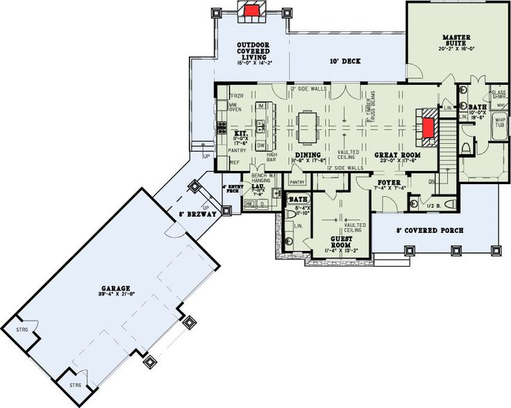 Plan 60691ND: Craftsman With Two Master Suites