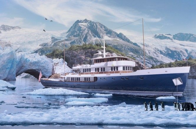 Striking New 56m TURQUOISE EXPEDITION YACHT under construction