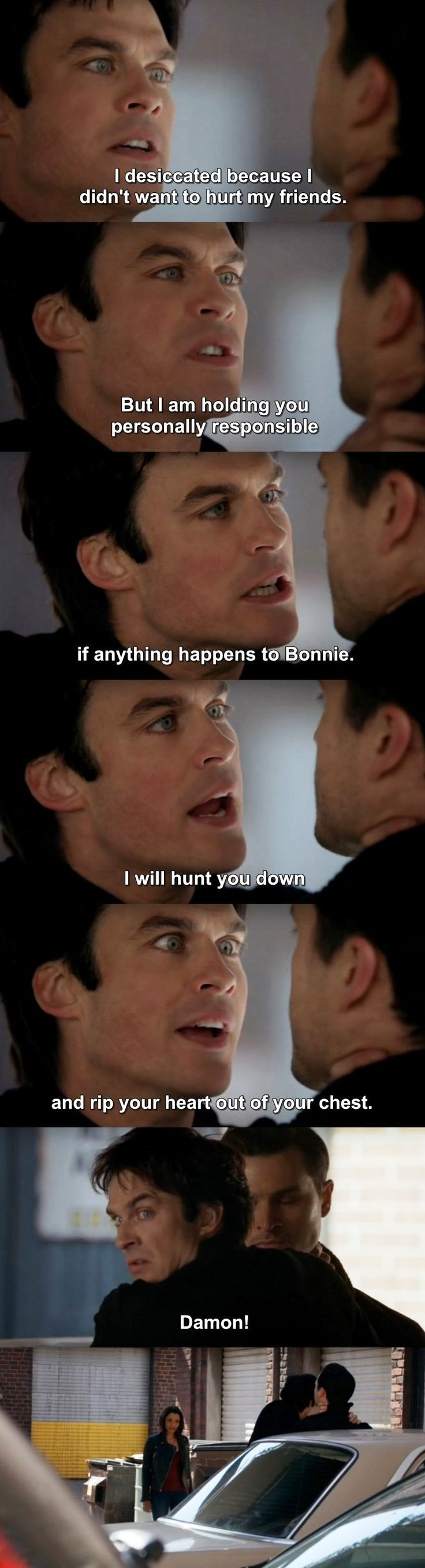 The Vampire Diaries TVD 7X19 - Damon, Bonnie & Enzo.