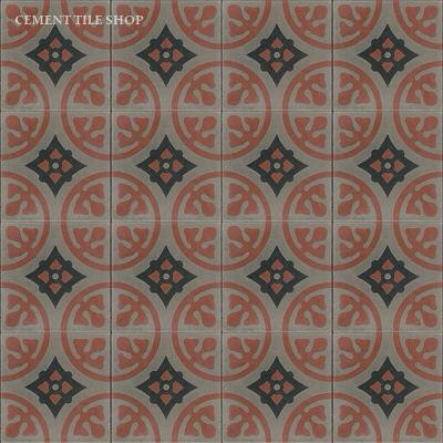 Cement Tile Has Beautiful In Stock Camryn Charcoal Handmade Encaustic Ready To Ship
