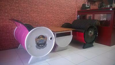 Galeri Umah Tong: Upcycled Oil Drum Into Furniture By Umah Tong Gall...