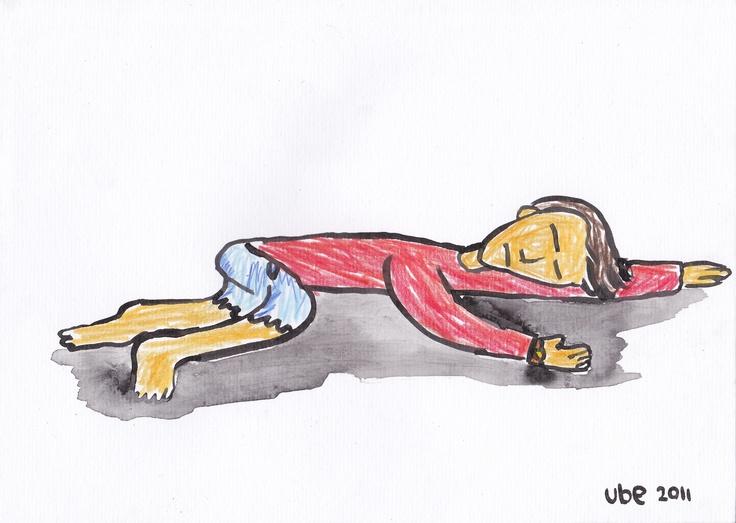 hening.tinta cina dan pensil warna di atas kertas A4.2011.. (ube)