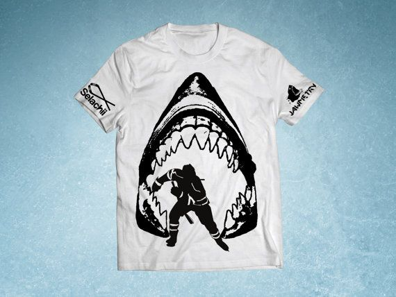 San Jose Sharks Shark Jaws Shirt by JAWMETRY on Etsy