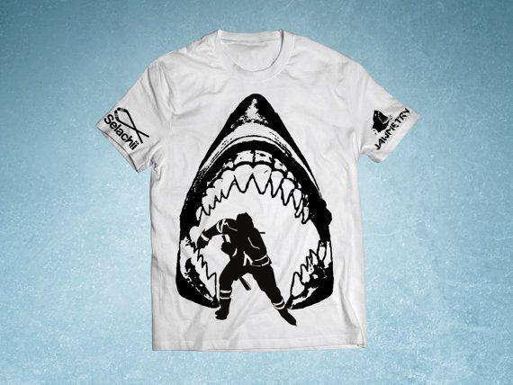 San Jose Sharks Shark Jaws Shirt by JAWMETRY on Etsy