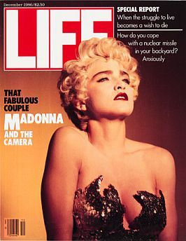 Madonna on cover of Life magazine, December 1986.