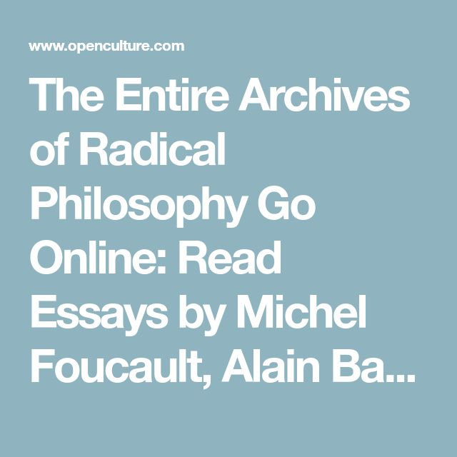 The Entire Archives of Radical Philosophy Go Online: Read Essays by Michel Foucault, Alain Badiou, Judith Butler & More (1972-2018)