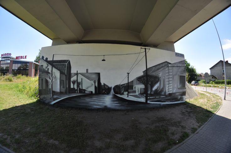 Jaworzno mural graffiti post card reproduction ragus  rage  grafftiti.team