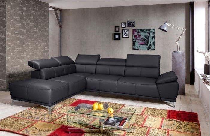 Felipe Canape D Angle Gauche Fixe Cuir 6 Places Pas Cher Noir Contemporain Prix Canape Cdiscount 1 499 99 Ttc Au Lieu Lounge Suites Sectional Couch Furniture