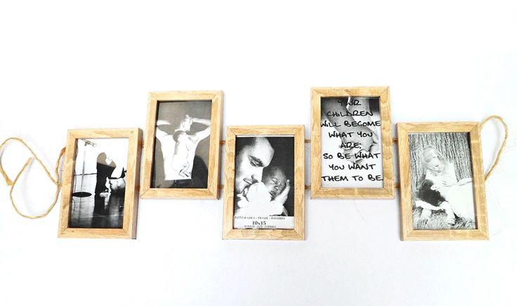 Drewniana Ramka na 5 zdjęć Dąb Sonoma