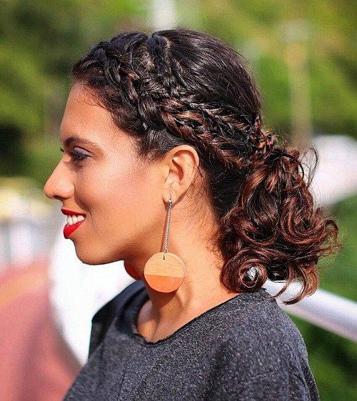 hair up styles for curly hair 55 styles and cuts for naturally curly hair in 2017 8355