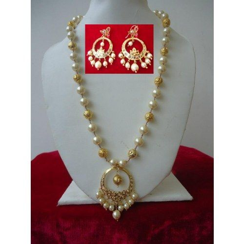 PEARL CHAND BALI SET: Indian Jewelry, Jewels Leeri, Largest Online, Leeri Desingn, Bali Sets, Indian Jewels, Online Marketplac, Chand Bali, Art Pieces