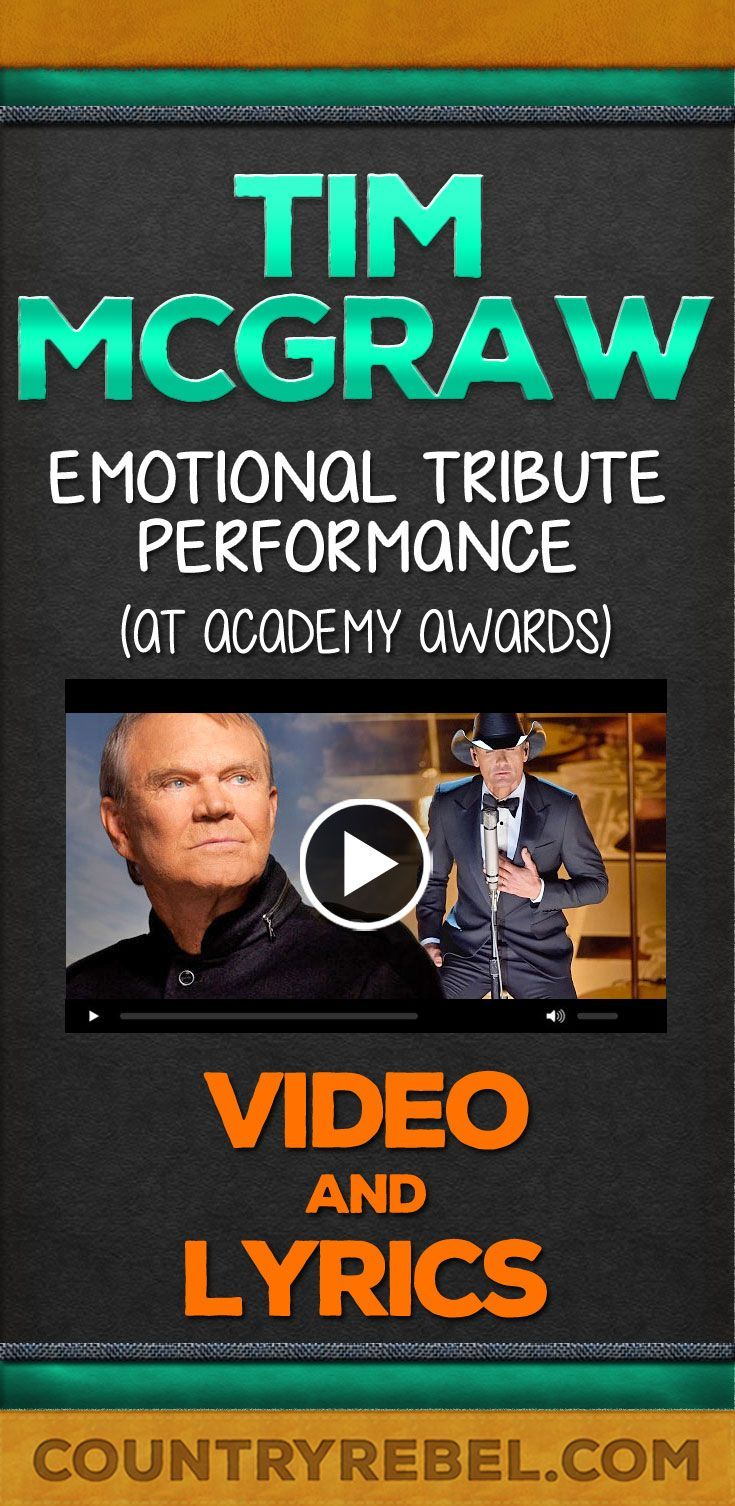 Country Music - Tim McGraw Im Not Gonna Miss You Lyrics and Country Music Video from Academy Awards http://countryrebel.com/blogs/videos/18893767-tim-mcgraws-emotional-tribute-performance-at-academy-awards