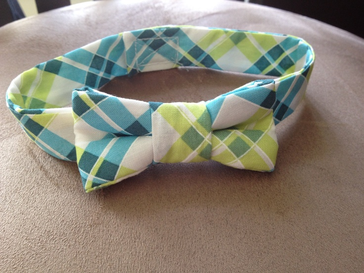 Preppy Plaid Bow Tie Collar for a Dog or Cat by BellieBoop on Etsy, $9.00