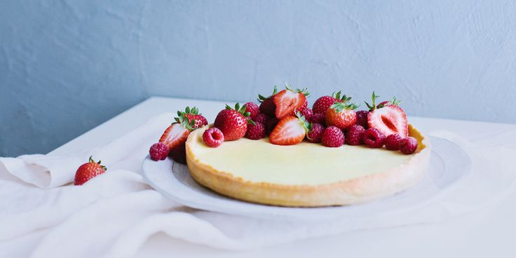 Zingy Lemon Curd Tart with Chia Seed Base
