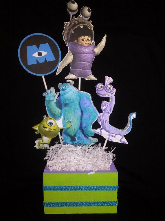 Monsters inc. Party Table centerpieceHalf a by OLydiasPartyCrafts, $90.00