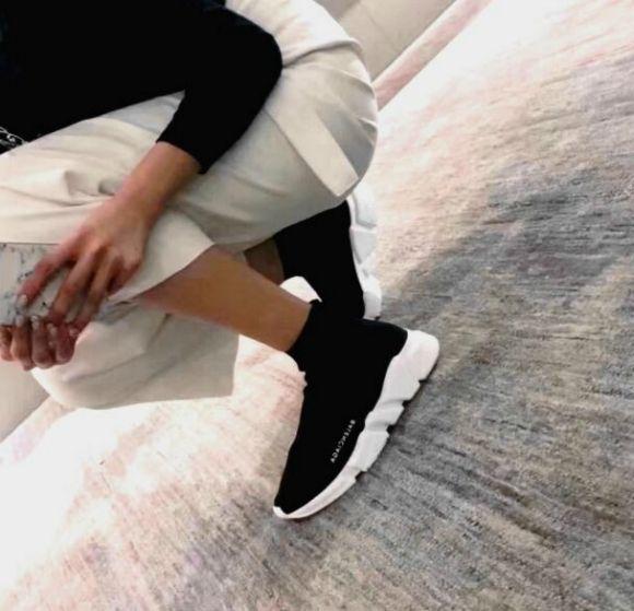 Woman Man Balenciaga Speed Trainer Sock