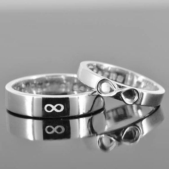 infinity ring wedding band wedding ring engagement by JubileJewel, $89.00