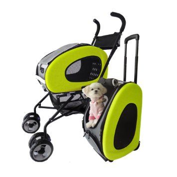 Pet Stroller,IPS-020/Green, dog carrier, trolley, Trailer, Innopet, 5-in-1 Pet Buggy. Foldable pet buggy, pushchair, pram for dogs and cats.: Amazon.co.uk: Pet Supplies