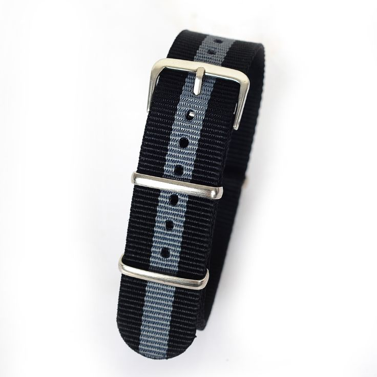 >> Click to Buy << Retail 20mm black gray black Sport nato fabric watch band straps accessories Bands nylon watchband steel Buckle belt #Affiliate