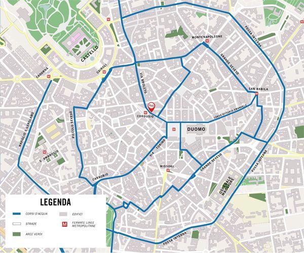Mappa navigli Milano
